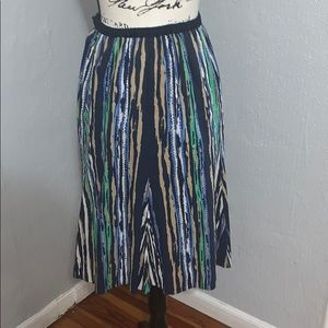 Linen striped skirt